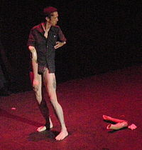Fraser performing a striptease that included removal of prosthetic armshttp://en.wikipedia.org/wiki/Mat_Fraser