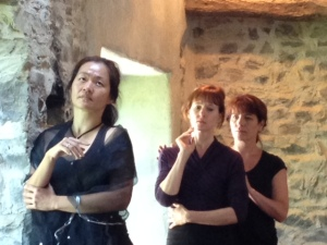 Jing Okorn-Kuo, Bernie Cronin and Regina Crowley