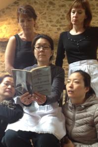 Jing, Bernie, Sunhee, Regina, Jeungsook and Genet's 'The Maids' (first edition).