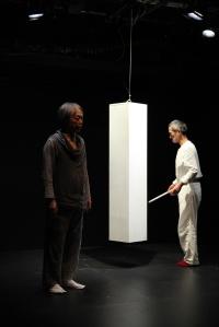 Okamura Yojiro and Takuzo Kubikuri of Ami Theatre