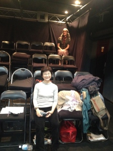 Mari Boyd and Jo Shapland in the auditorium during tech rehearsal