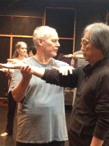 Phillip Zarrilli and Okamura Yojiro, Babylon theatre Tokyo.
