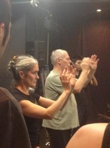 Phillip Zarrilli and Jo Shapland leading a session in T'ai chi