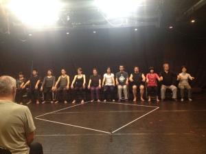 Structured improvisation led by Phillip Zarrilli, Theatre Babylon Tokyo
