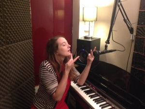 Sophie Stone signing, not singing.