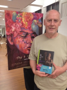 Phillip Zarrilli with the Mandarin translation of 'Psychophysical Acting,' ATHE Outstanding book of the year.