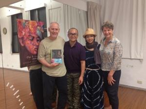 Phillip Zarrilli, Alex Cheung and Faye Leong, co-artistic directors of Mobius Strip Theatre, Taipei