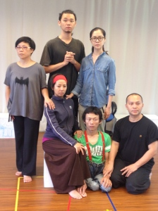 The cast of 'The 9 Fridas', Mobius Strip Theatre, Taiwan.