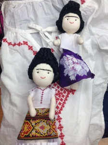 Frida dolls customised by YS Lee, The 9 Fridas