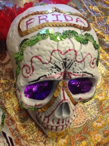 YY's version of Frida's Day of the dead sugar skull. The 9 Fridas, Taipei.