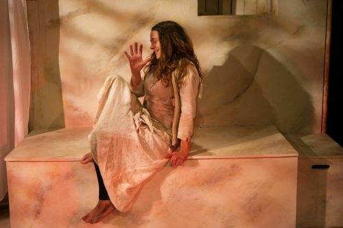 Sophie Stone in Forest Forge's 'Woman of Flowers' by Kaite O'Reilly. Photo copyright Lucy Sewill.