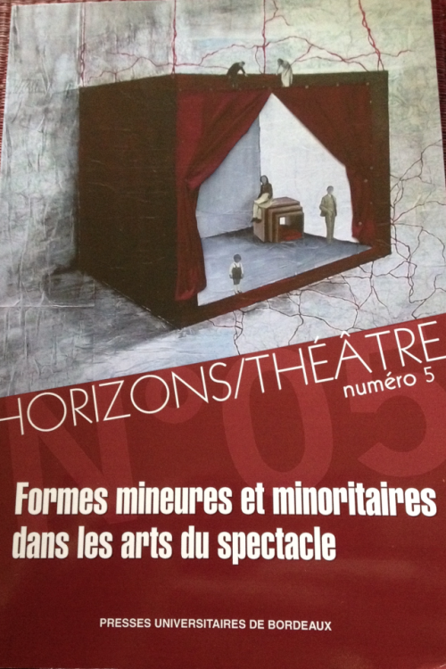 Cover of Horizons/ Theatre no.4. Presses Universitaires de Bordeaux
