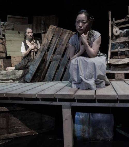 Hilde Stensland (Norway) and Jeungsook Yoo (Korea) in 'The Water Station' by Ota Shogo. Nordland teater September 2015