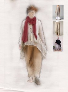 Costume design for 'Cosy' by Holly McCarthy