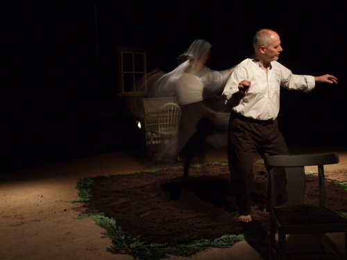 Jo Shapland and Phillip Zarrilli in The Llanarth Group's Told by the Wind